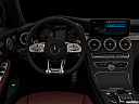 "2019 Mercedes-Benz C-Class AMG C 43, centered wide dash shot - ""night"" shot."
