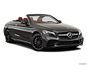 2019 Mercedes-Benz C-Class AMG C 43, front passenger 3/4 w/ wheels turned.