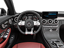 2019 Mercedes-Benz C-Class AMG C 43, steering wheel/center console.