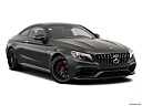 2019 Mercedes-Benz C-Class AMG C63 S, front passenger 3/4 w/ wheels turned.