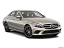 2019 Mercedes-Benz C-Class C300, front passenger 3/4 w/ wheels turned.