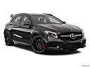 2019 Mercedes-Benz GLA-Class AMG GLA 45, front passenger 3/4 w/ wheels turned.
