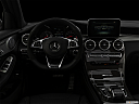 "2019 Mercedes-Benz GLC-Class AMG GLC 63, centered wide dash shot - ""night"" shot."