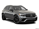 2019 Mercedes-Benz GLC-Class AMG GLC 63, front passenger 3/4 w/ wheels turned.