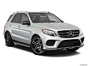 2019 Mercedes-Benz GLE-Class AMG GLE 43, front passenger 3/4 w/ wheels turned.