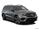 2019 Mercedes-Benz GLS-Class GLS550 4Matic, front passenger 3/4 w/ wheels turned.