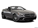 2019 Mercedes-Benz SLC-class SLC43 AMG, front passenger 3/4 w/ wheels turned.