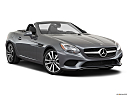 2019 Mercedes-Benz SLC-class SLC300, front passenger 3/4 w/ wheels turned.