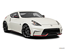 2019 Nissan 370Z Nismo, front passenger 3/4 w/ wheels turned.