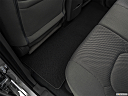 2019 Nissan Frontier SV, rear driver's side floor mat. mid-seat level from outside looking in.