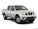 2019 Nissan Frontier SV, front passenger 3/4 w/ wheels turned.