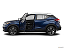 2019 Nissan Kicks SV, driver's side profile with drivers side door open.