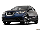 2019 Nissan Kicks SV, front angle view, low wide perspective.