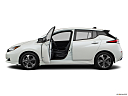 2019 Nissan LEAF SL, driver's side profile with drivers side door open.