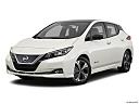 2019 Nissan LEAF SL, front angle medium view.