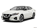 2019 Nissan Maxima Platinum, front angle medium view.