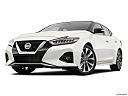 2019 Nissan Maxima Platinum, front angle view, low wide perspective.