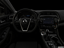 "2019 Nissan Maxima Platinum, centered wide dash shot - ""night"" shot."