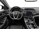 2019 Nissan Maxima Platinum, steering wheel/center console.