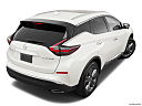 2019 Nissan Murano Platinum, rear 3/4 angle view.