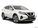 2019 Nissan Murano SL, front passenger 3/4 w/ wheels turned.