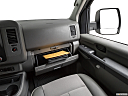2019 Nissan NV2500 HD Cargo SV V6, glove box open.