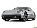2019 Porsche Panamera 4 E-Hybrid, front angle view, low wide perspective.