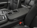 2019 Porsche Panamera 4 E-Hybrid, front center console with closed lid, from driver's side looking down