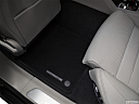 2019 Porsche Panamera 4S Executive, rear driver's side floor mat. mid-seat level from outside looking in.