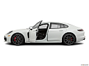 2019 Porsche Panamera GTS, driver's side profile with drivers side door open.