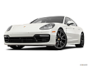 2019 Porsche Panamera GTS, front angle view, low wide perspective.
