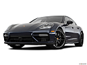 2019 Porsche Panamera Turbo, front angle view, low wide perspective.