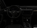 "2019 Volkswagen Tiguan SEL R-Line, centered wide dash shot - ""night"" shot."