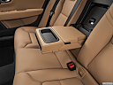 2019 Volvo S90 T5 Momentum, rear center console with closed lid from driver's side looking down.
