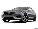 2019 Volvo V90 T6 AWD R-DESIGN, front angle view, low wide perspective.
