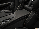 2019 Volvo V90 T6 AWD R-DESIGN, front center console with closed lid, from driver's side looking down
