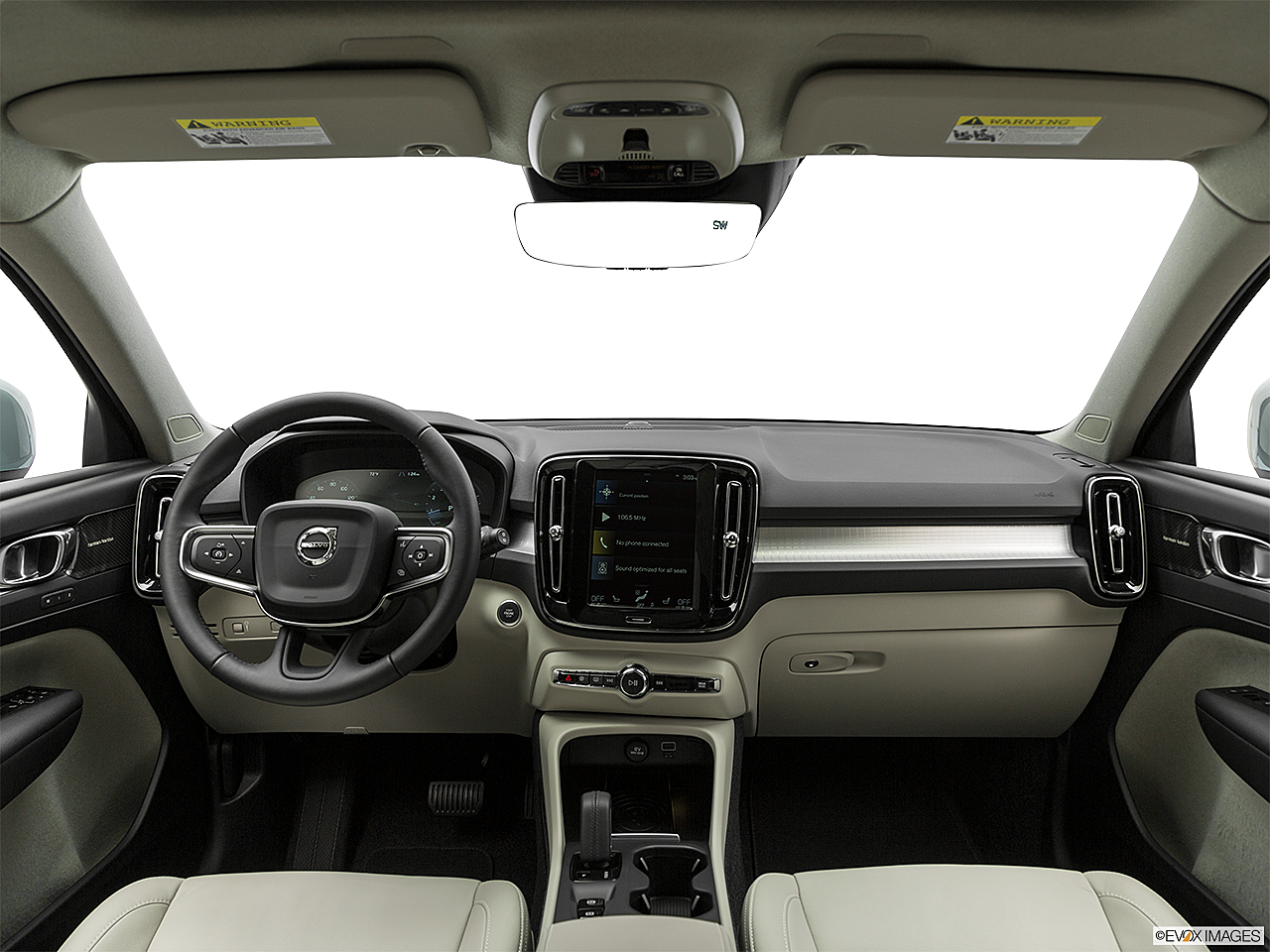 2019 Volvo XC40 T5 Momentum AWD, centered wide dash shot