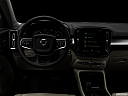 "2019 Volvo XC40 T5 Momentum AWD, centered wide dash shot - ""night"" shot."