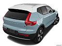 2019 Volvo XC40 T5 Momentum AWD, rear 3/4 angle view.