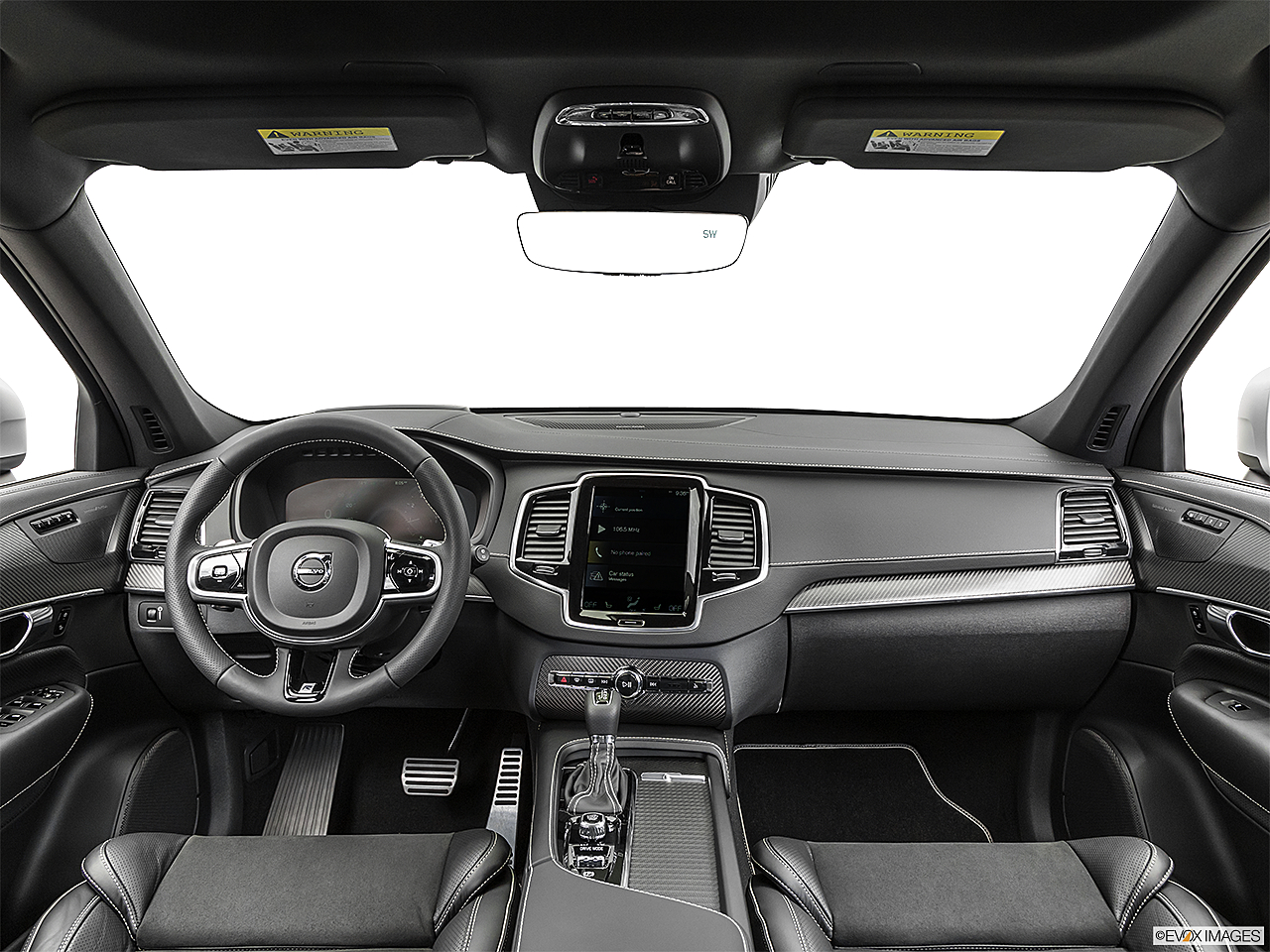 2019 Volvo XC90 T5 AWD R-Design, centered wide dash shot