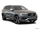 2019 Volvo XC90 T5 AWD R-Design, front passenger 3/4 w/ wheels turned.
