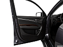2020 Acura MDX, inside of driver's side open door, window open.