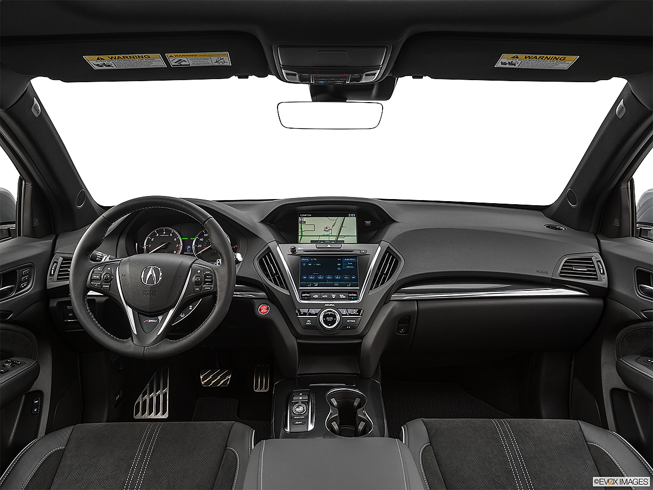 2020 Acura MDX, centered wide dash shot