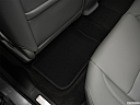 2020 Acura TLX 2.4 8-DCT P-AWS, rear driver's side floor mat. mid-seat level from outside looking in.