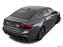 2020 Acura TLX 3.5L, rear 3/4 angle view.
