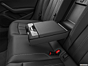 2020 Audi A4 Premium 40 TFSI, rear center console with closed lid from driver's side looking down.