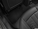 2020 Audi A4 Premium 40 TFSI, rear driver's side floor mat. mid-seat level from outside looking in.