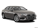 2020 Audi A4 Premium 40 TFSI, front passenger 3/4 w/ wheels turned.
