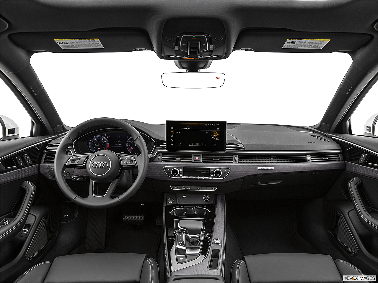 2020 Audi A4 Premium Plus 45 TFSI, centered wide dash shot