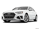 2020 Audi A4 Premium Plus 45 TFSI, front angle view, low wide perspective.